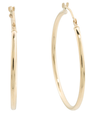 Made In Usa 30mm 14k Gold Hoop Earrings