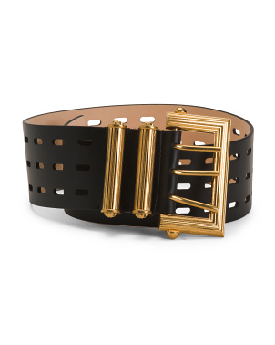 Made In Italy Leather Tribute Belt