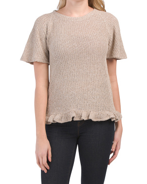 Clara Open Sweater Knit Top