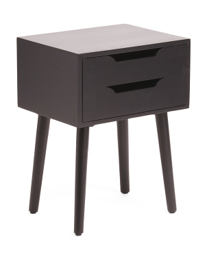 Two Drawer Side Table With Usb