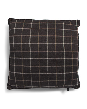 24x24 Oversized Plaid Pillow