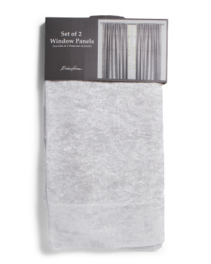 54x96 Set Of 2 Crushed Velvet Curtains