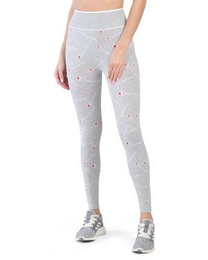 High Waist All Over Logo Leggings