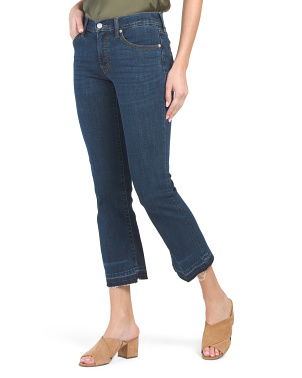 Mid Rise Crop Mini Bootcut Jeans