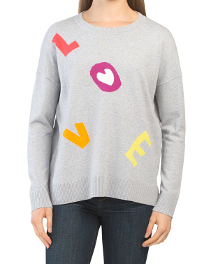 Scattered Love	cotton Sweater