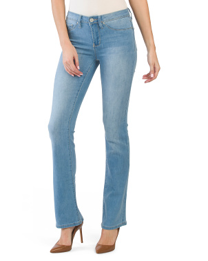 Juniors Basic Mid Rise Bootcut Jeans