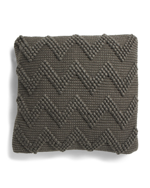 20x20 Woven Chevron Wool Blend Pillow