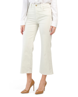 Joan High Rise Corduroy Cropped Pants