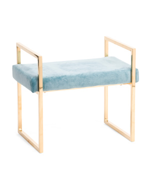 Velveteen Bench With Handles