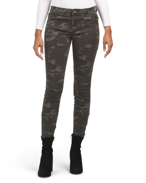 Camo Ankle Skinny Jeans