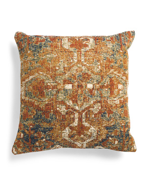 22x22 Printed Vintage Look Pillow