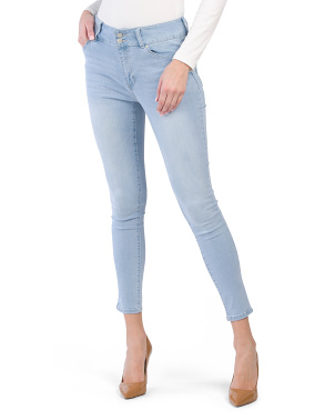 Super High Waist Recycled 2 Button Booty Lifter Skinny Jeans