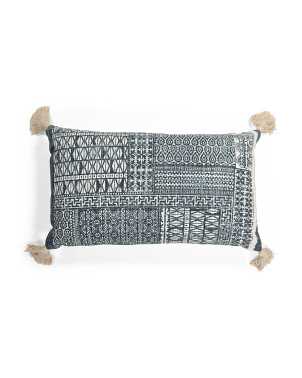 16x26 Patch Print Pillow
