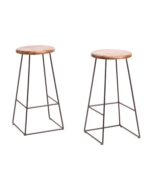 30in Set Of 2 Ember Paris Barstools