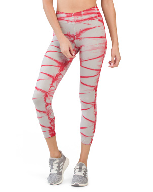 Made In Usa High Waist Crop Tie Dye Leggings