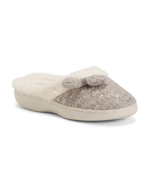Sequin Knit Slippers