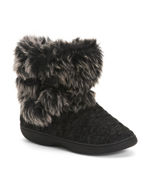 Knit Boots With Fur