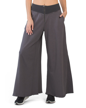 Solid Borderline Wide Leg Pants