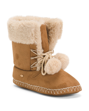 Microsuede Slipper Booties