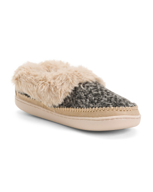 Faux Fur Slipper Clogs