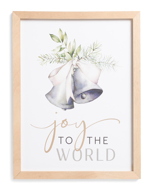 12x16 Joy To The World Bell Wall Art