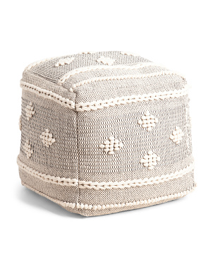 18x18 Textured Ratner Pouf