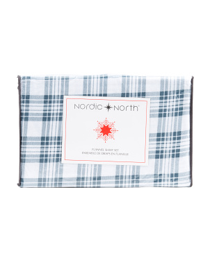 Crossover Plaid Flannel Sheet Set