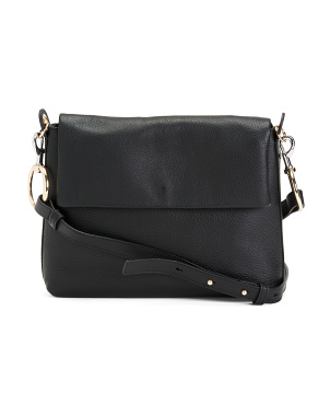 Large Leather Flap Crossbody