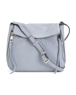 Embossed Bubble Leather Crossbody
