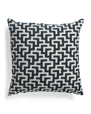 Made In Usa 22x22 Textured Contemporary Pillow