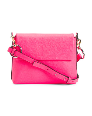 Leather Tumble Crossbody