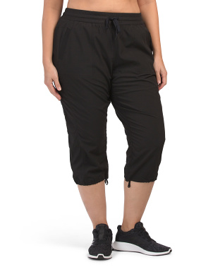 Plus Stretch Woven Capris