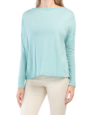 Pima Cotton Long Sleeve Top