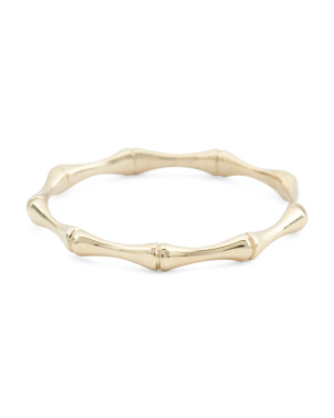 Made In Italy 14k Gold Bamboo Thin Ring