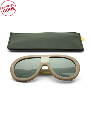 Made In Italy Shield Designer Sunglasses