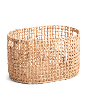 Medium Oval Open Weave Basket