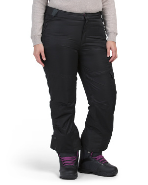 Plus Waterproof Micro Fleece Lined Snow And Ski Pants