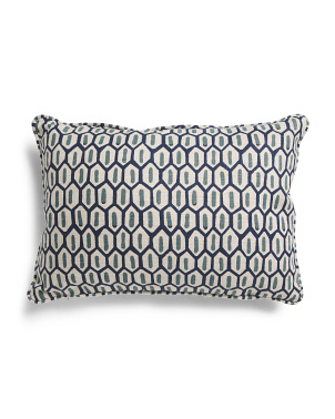 12x18 Block Geometric Linen Pillow