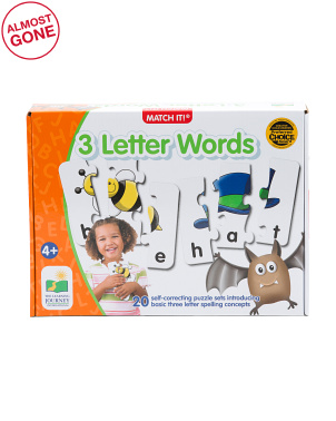 Match It 3 Letter Words