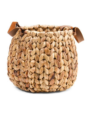 Small Woven Basket With Handles