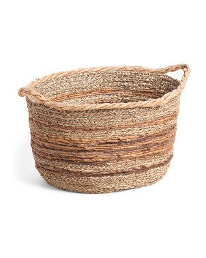 Made In Indonesia Large Water Hyacinth Oval Basket
