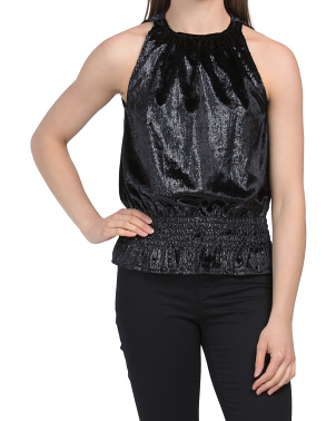 Shiny Velvet Lauren Top