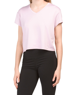 Cropped V-neck Tee