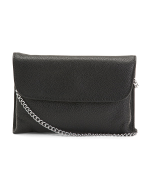 Leather Flap Over Crossbody