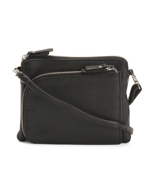 Leather Multi Entry Crossbody