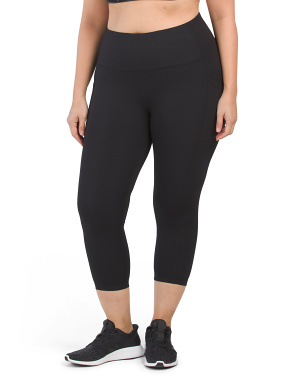Plus Lux High Rise Side Pocket Capris