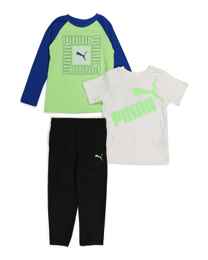 Little Boy 3pc Tricot Pant Set