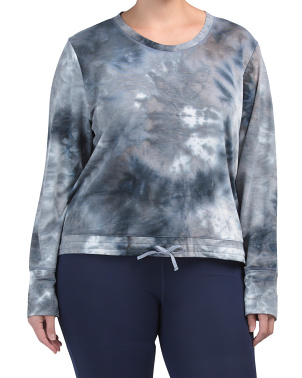 Plus Tie Dye Pullover Top