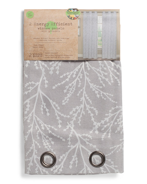 40x96 Set Of 2 Alma Thermal Black Out Energy Saving Curtains