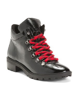 Patent Hiker Boots